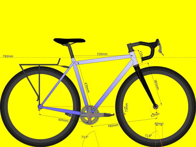 Revised GEO for my randonneur / cx bike.