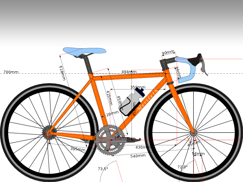 This is a sample road bike.  Feel free to modify the design as you see fit.
